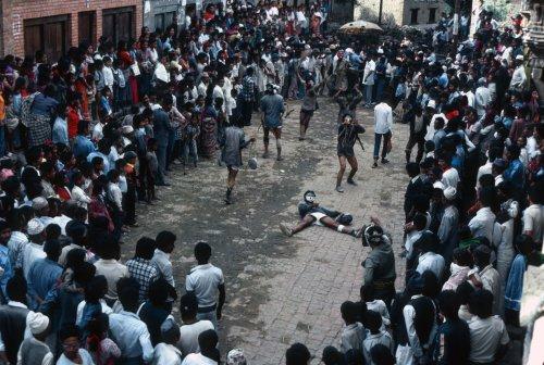 Kirtipur, Gai Jattra festival.