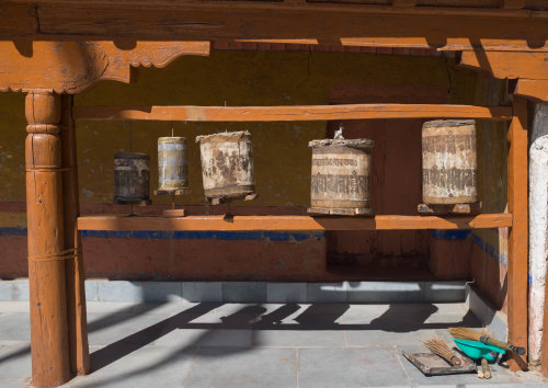 Prayer wheels at Likir Monastery