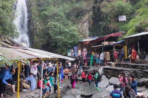 Popular waterfall near Dharamsala