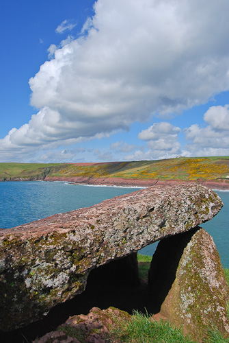 King's Quoit burial chamber, Manorbier,Pembrokeshire