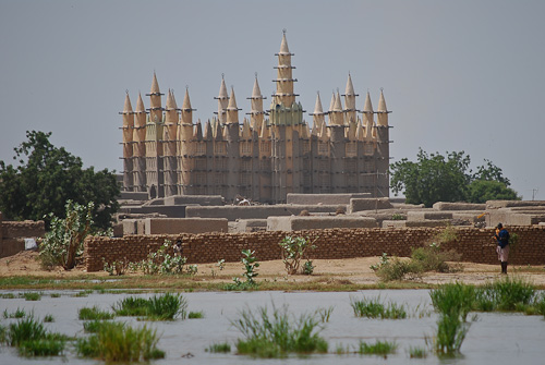 Mosque by the Niger River, Mali
