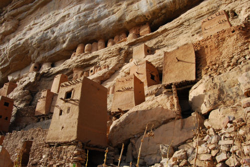 Dogon village cliff dwellings