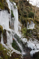 Frozen waterfall, Cwm Llwch, Brecon Beacons