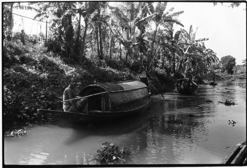 Western Bangladesh, country boats on a bhil (canal)