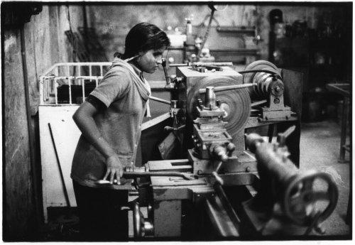 Savar, bangladesh woman lathe operator