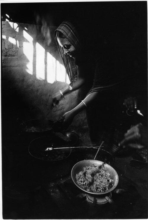 Dhaka, Bangladesh, basti settlement kitchen