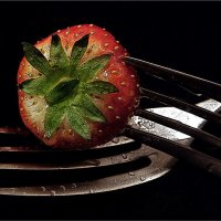 Strawberry on Fork