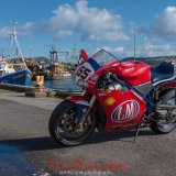 Ducati and Fishing Boats Campbeltown