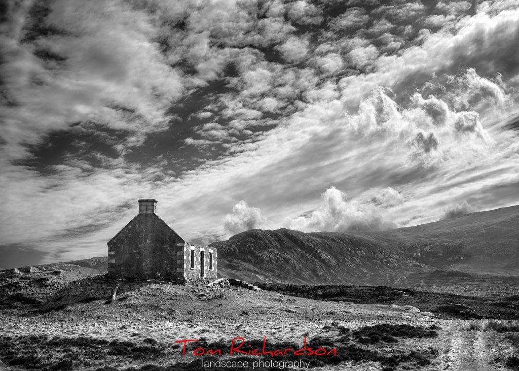 ruined house at caolas liubharsaigh