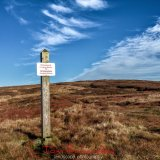 Signpost to Whitendale Hanging Stones