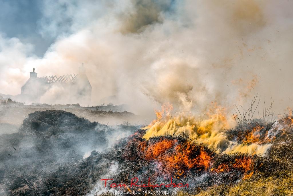 burning the heather eriskay