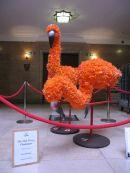 Flamingos made with Oak Grove College