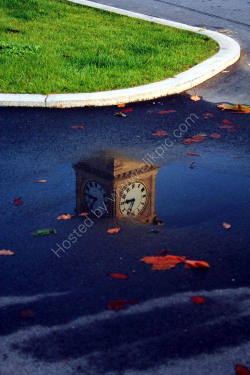 clock face reflection