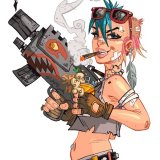 Tank Girl: Practice copy art