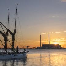 Barges at Sunrise