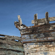 Abstract of decaying fishing boats