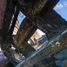 View through the wreck