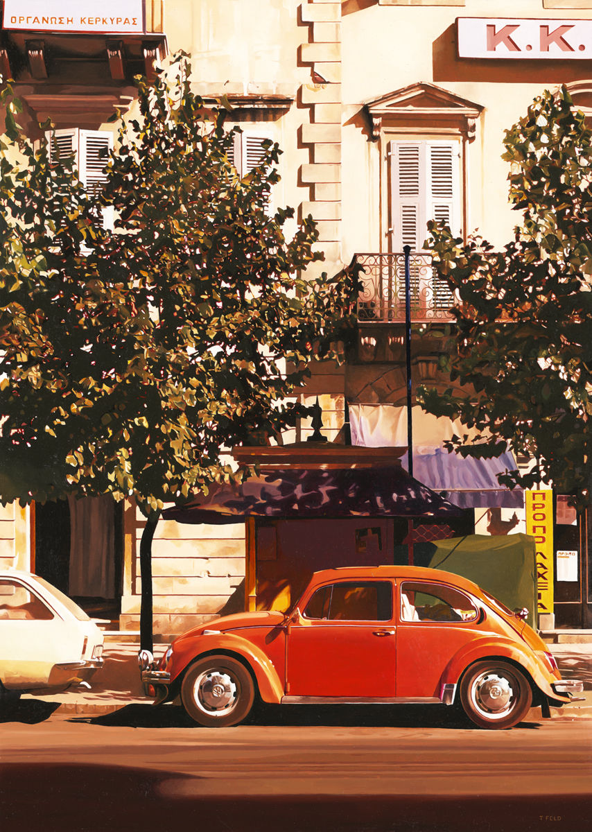 Orange VW Beetle - Corfu 1980