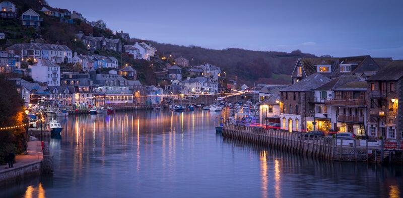 Looe harbour, twilight