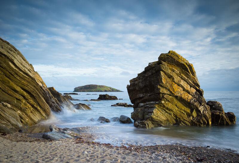 Rock Sculpture and Looe Island