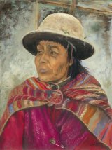 Andean Woman - Oils