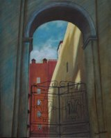 Russian Archway and Gate - Oils