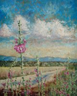 Hollyhocks of Lesvos-Oils