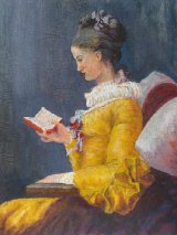 A Yound Girl Reading, after Jean-Honore Fragonard