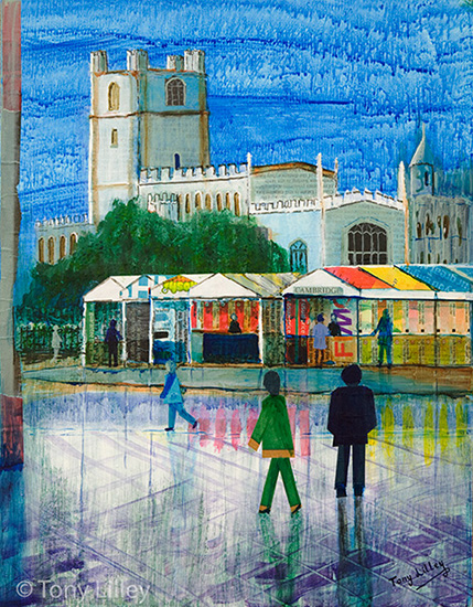 Cambridge Market - Rainy Day