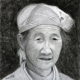 Chinese Putzehei woman portrait