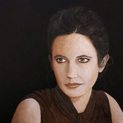 Female Portrait in standard acrylics
