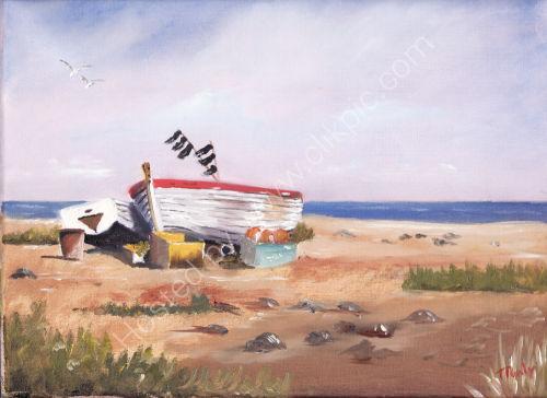 Boats Beached Aldborough £80