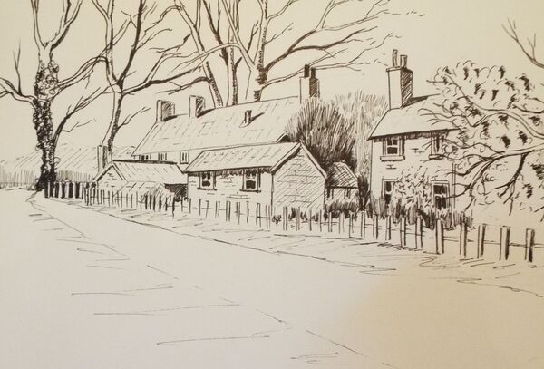 Cottages near the Blickling estate
