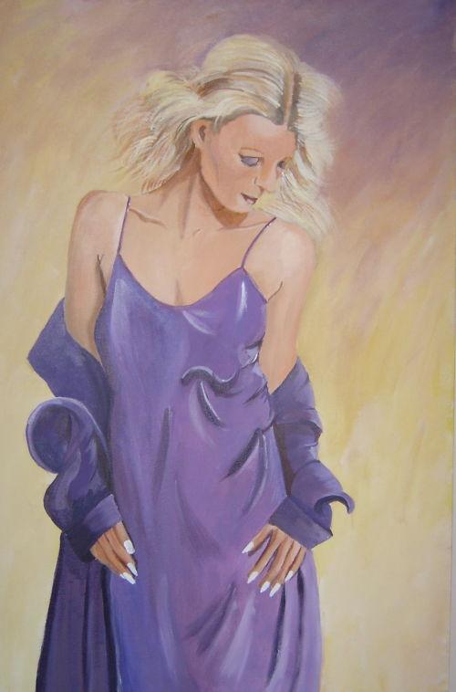Girl in a Purple Dress