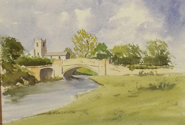 Glanford Bridge and church