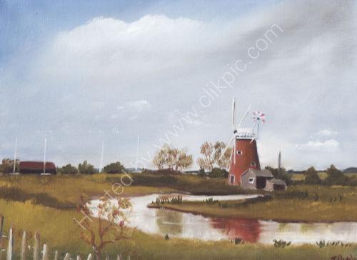 Horsey Wind pump (305mm x 310mm) £80 framed