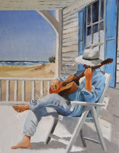 Music on the beach (SOLD)
