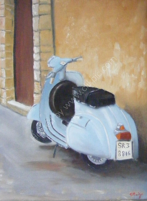 Waiting for a ride (SOLD)