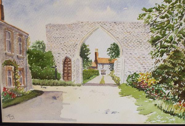 Wallcott Priory gate