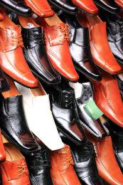 One white shoe