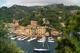 View over Portofino