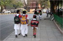 On the way to school in New Dehli