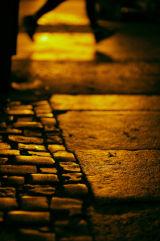 Runner at night