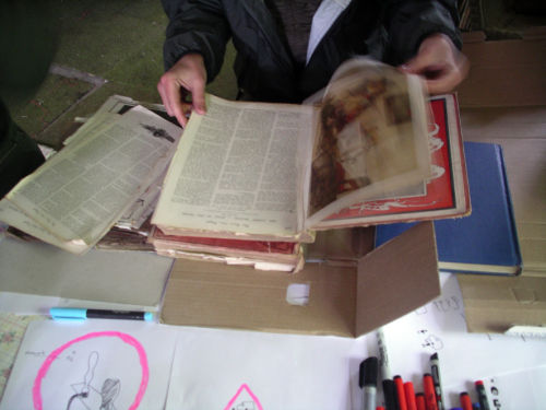 Using old 'Boys Own' books to make work