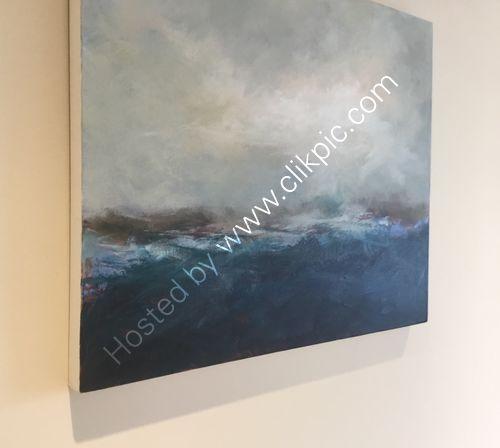Coastal tide acrylic artwork
