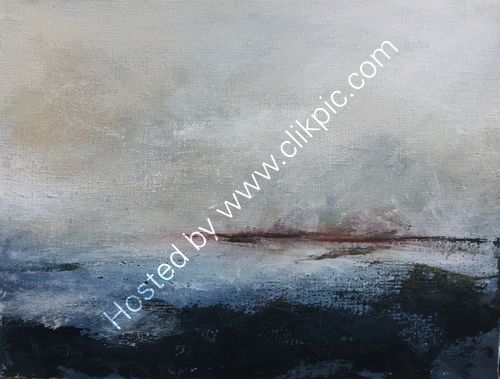 """Passing light, open seas"" deep edge canvas."