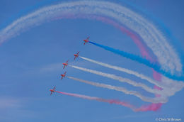 Red Arrows over Minehead