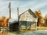 Barn Near Sharpsville 27x37cm