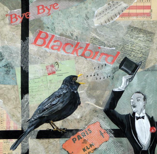 Bye Bye Blackbird 45cmx45cm