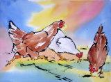 Chicken Running 25x35cm